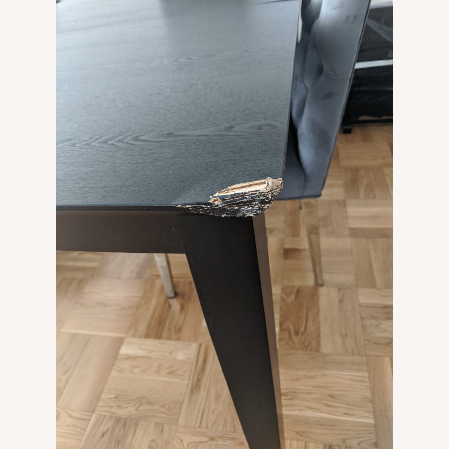 Coaster Fine Black Wood Dining Table with Expandable Leaf - image-7
