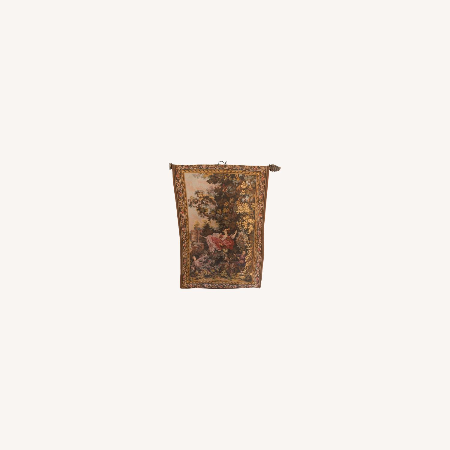 High Point Genre Gobelins French Tapestry - image-0