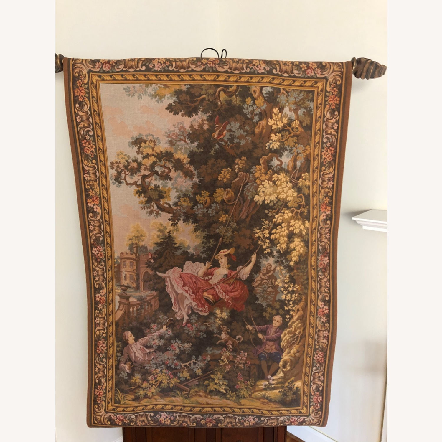 High Point Genre Gobelins French Tapestry - image-1