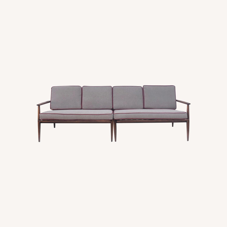 Mid-Century Modern Two Piece Sofa or Corner Sofa - image-0