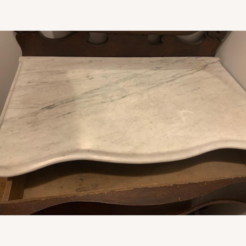 Marble Top Walnut Victorian Vanity - image-3