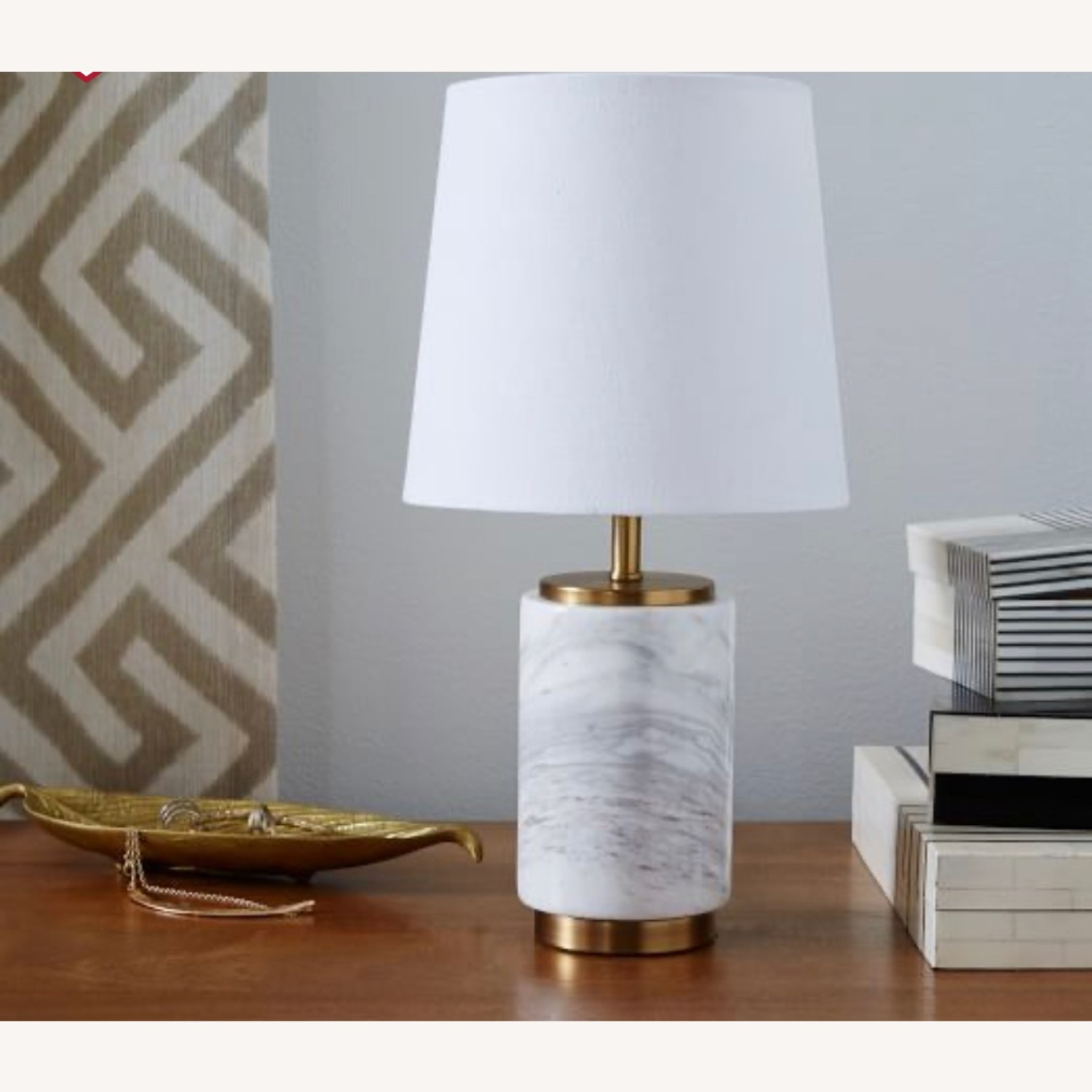 West Elm Marble Table Lamp - image-1