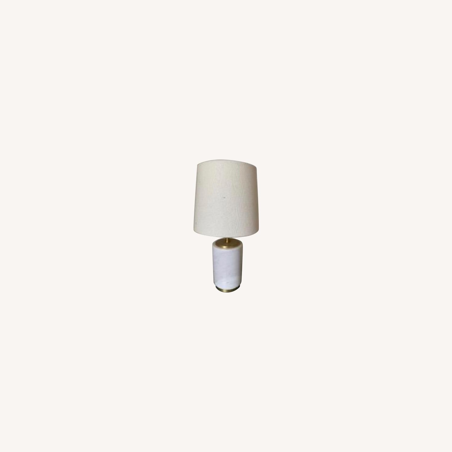 West Elm Marble Table Lamp - image-0