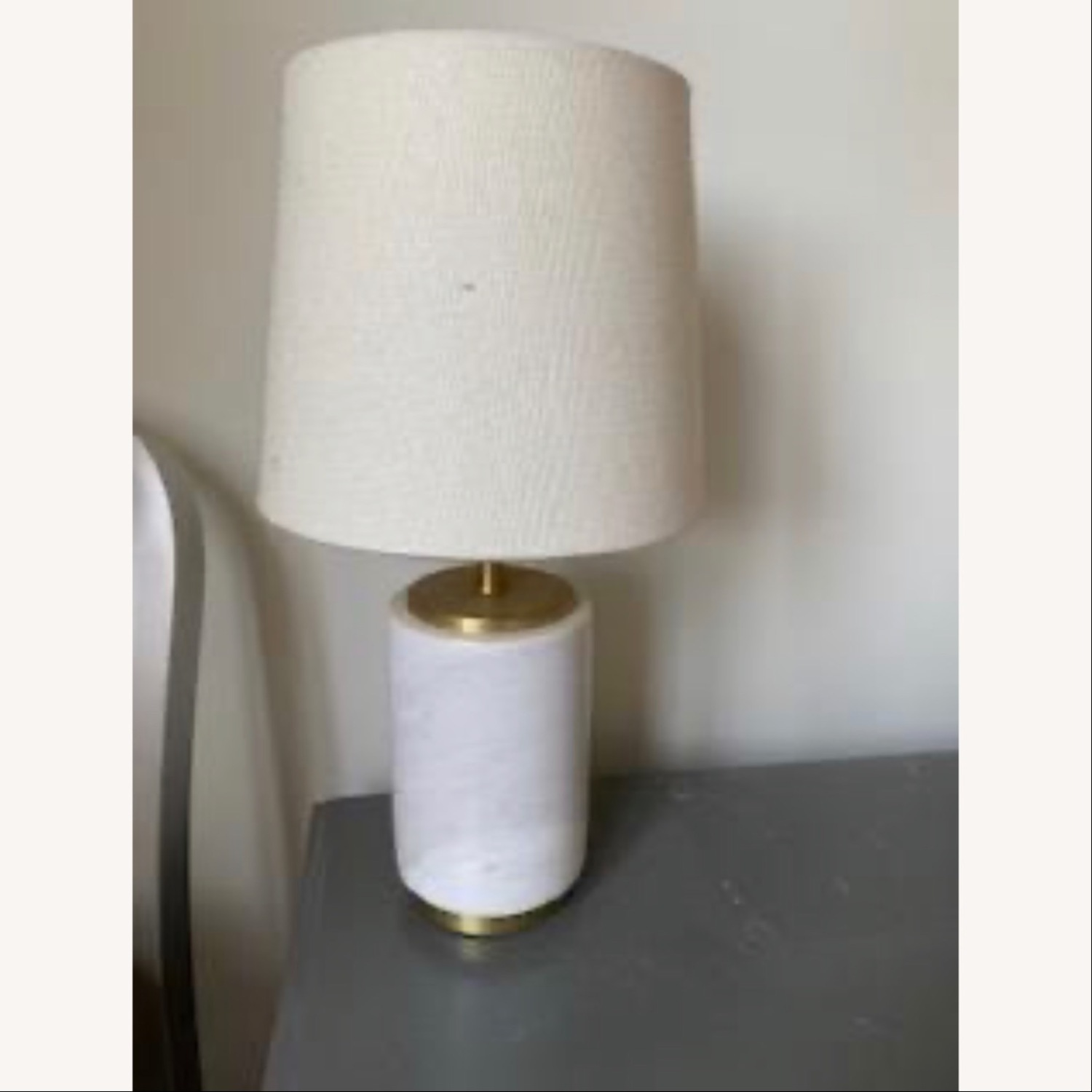 West Elm Marble Table Lamp - image-3