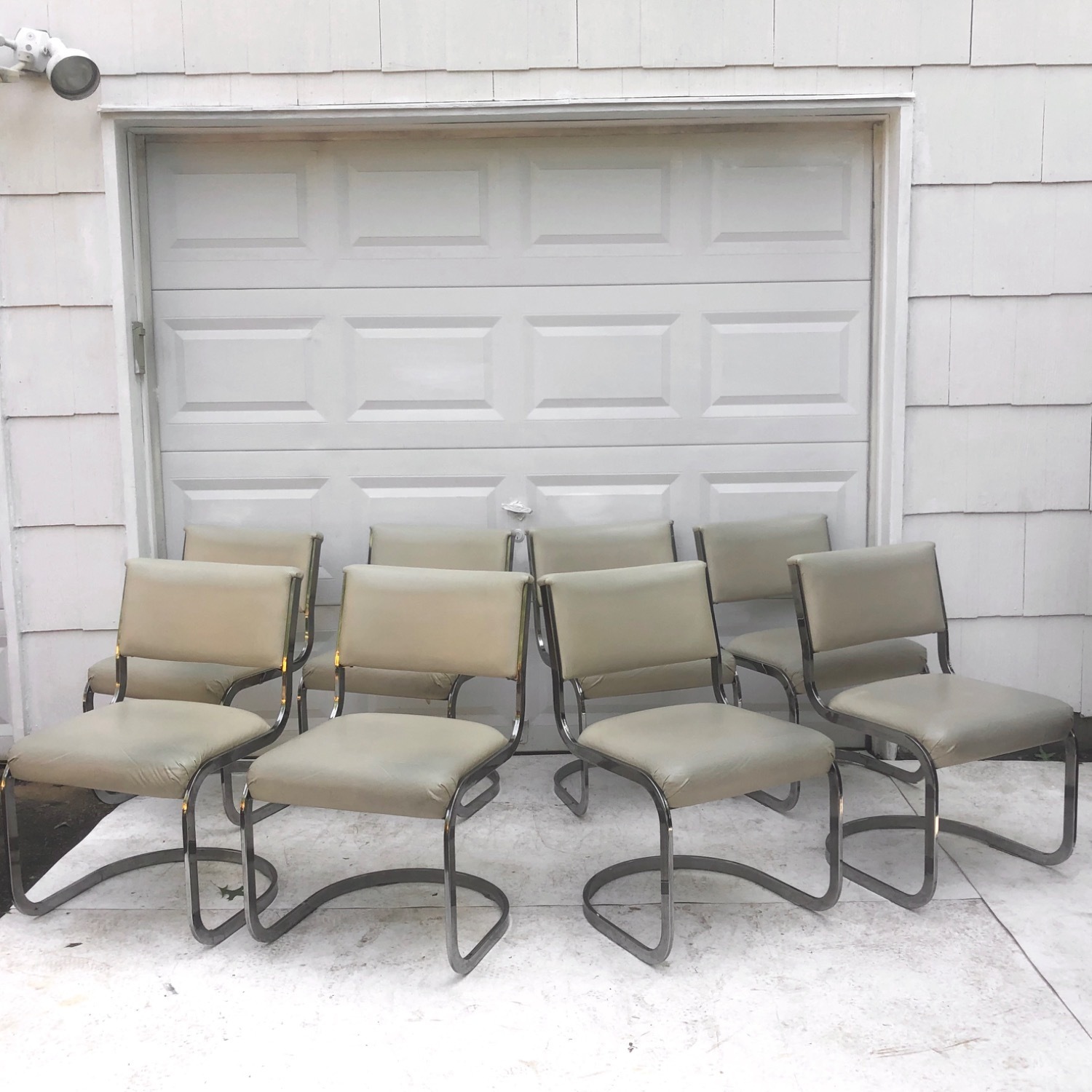 Vintage Modern Dining Chairs Set of 8 - image-1