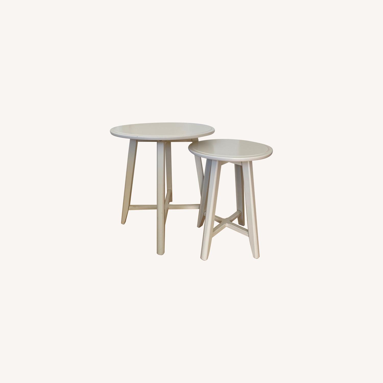 IKEA Kragsta White Coffee Tables - image-0