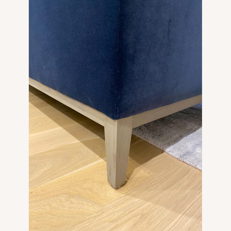 Restoration Hardware Blue Velvet 2 Seater Couch - image-3