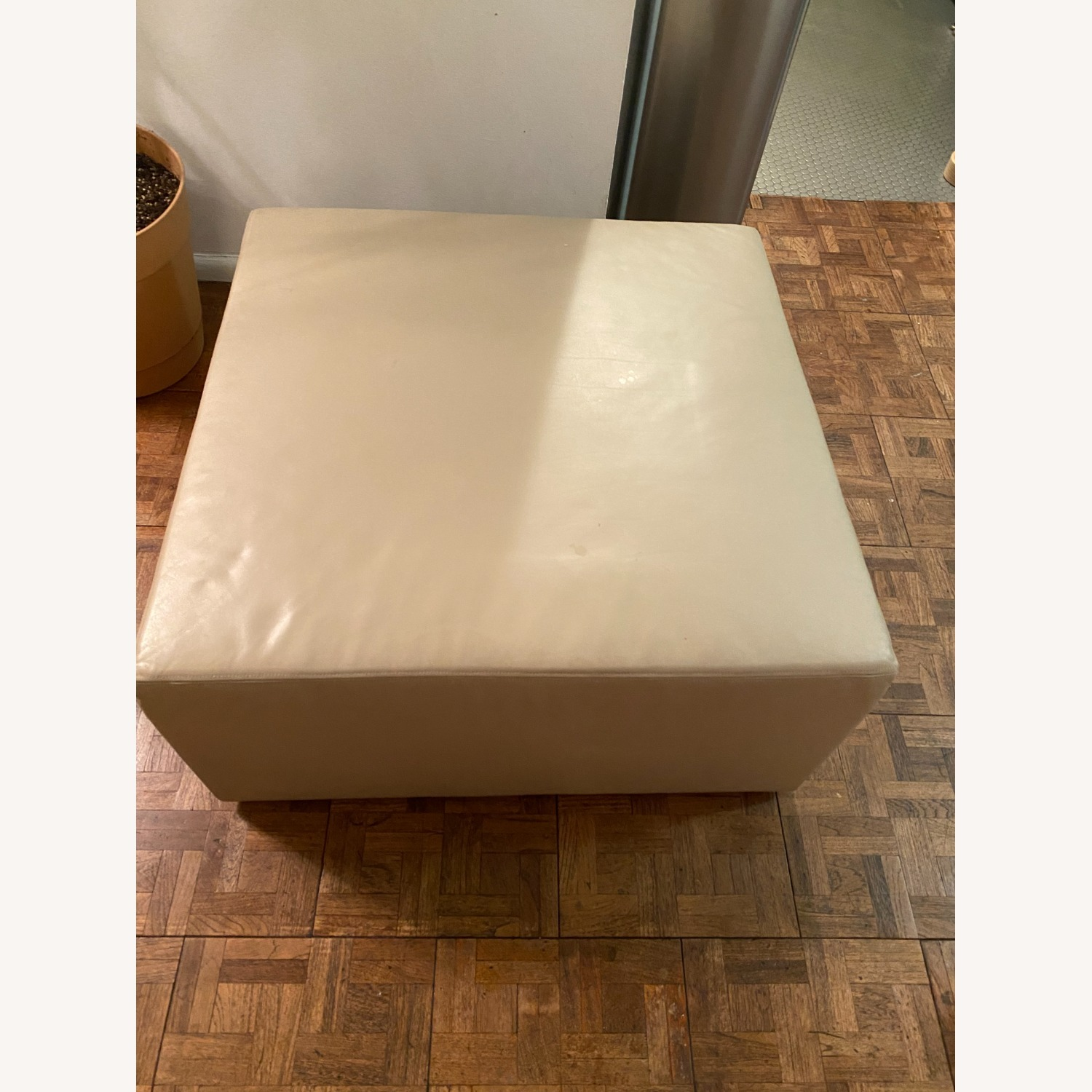 Taylor Made Custom Upholstered Leather Ottoman - image-1