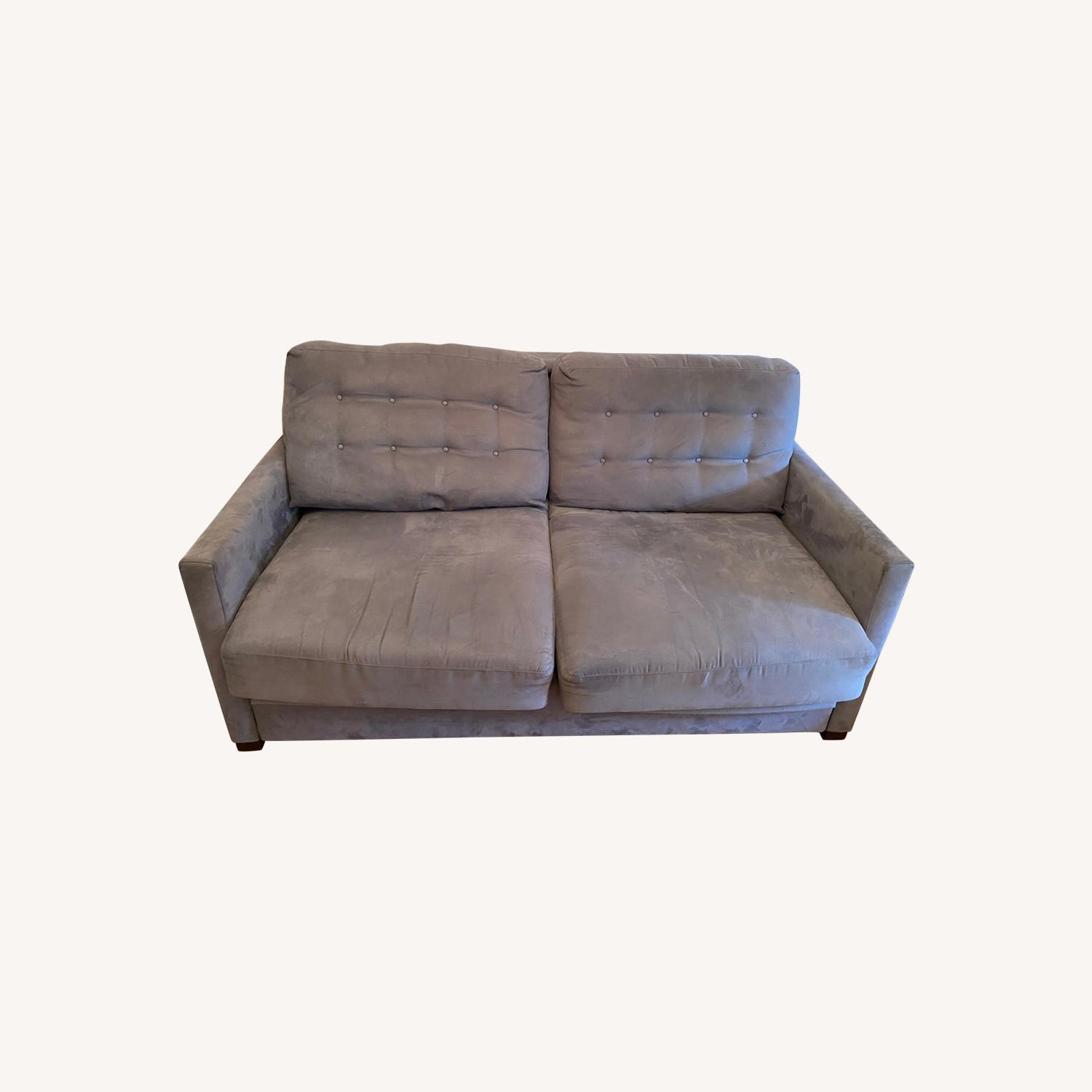 Raymour & Flanigan Pull-Out Memory Foam Sofa - image-0