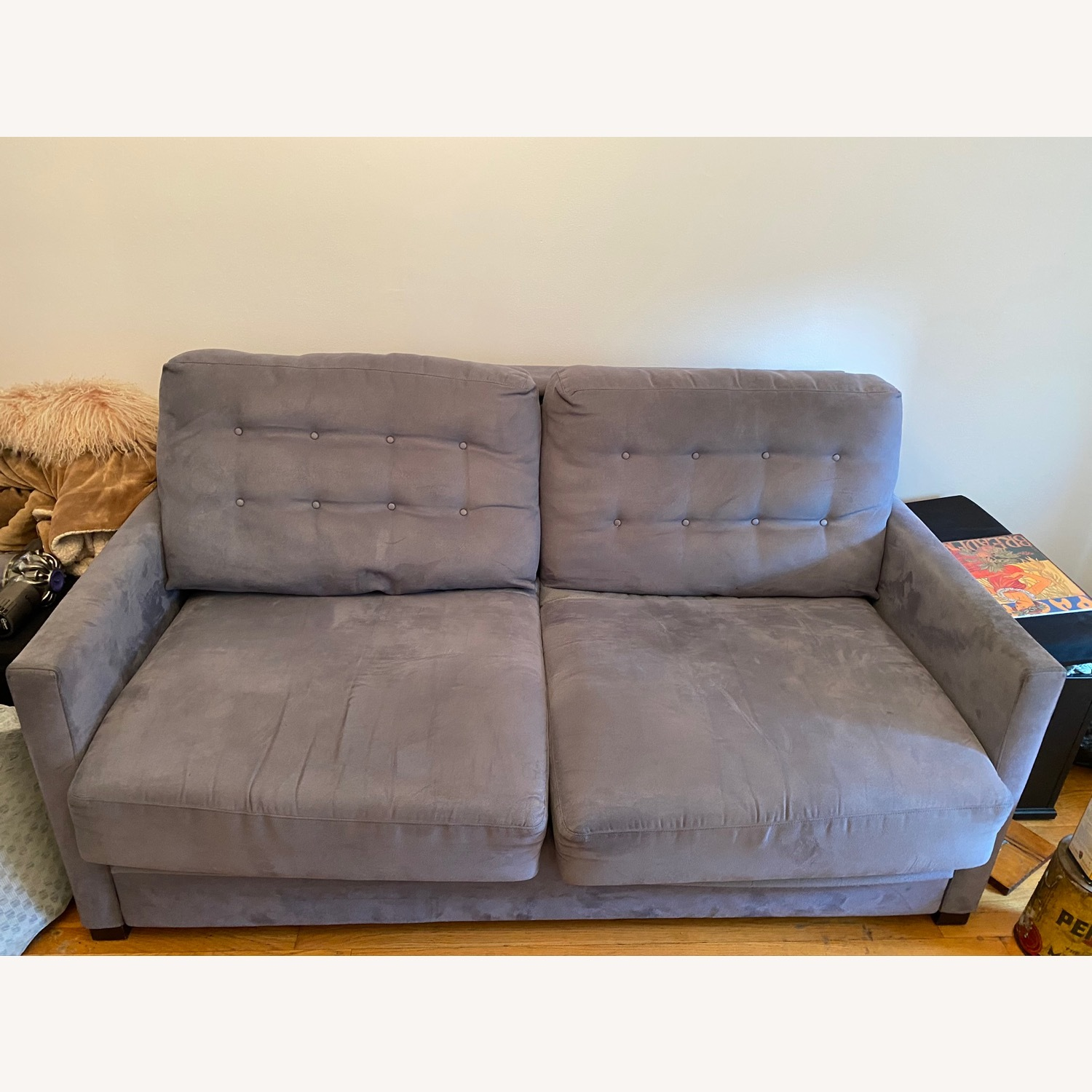 Raymour & Flanigan Pull-Out Memory Foam Sofa - image-3