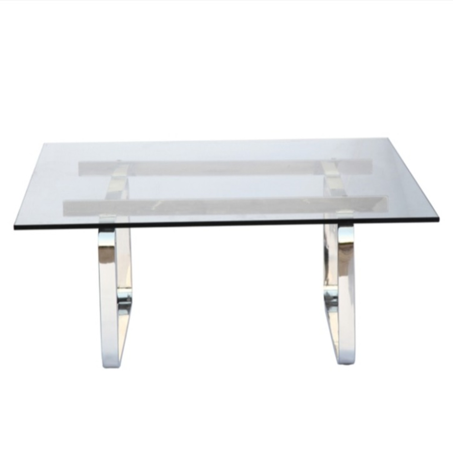 Coffee Table In Clear Stainless Steel - image-2