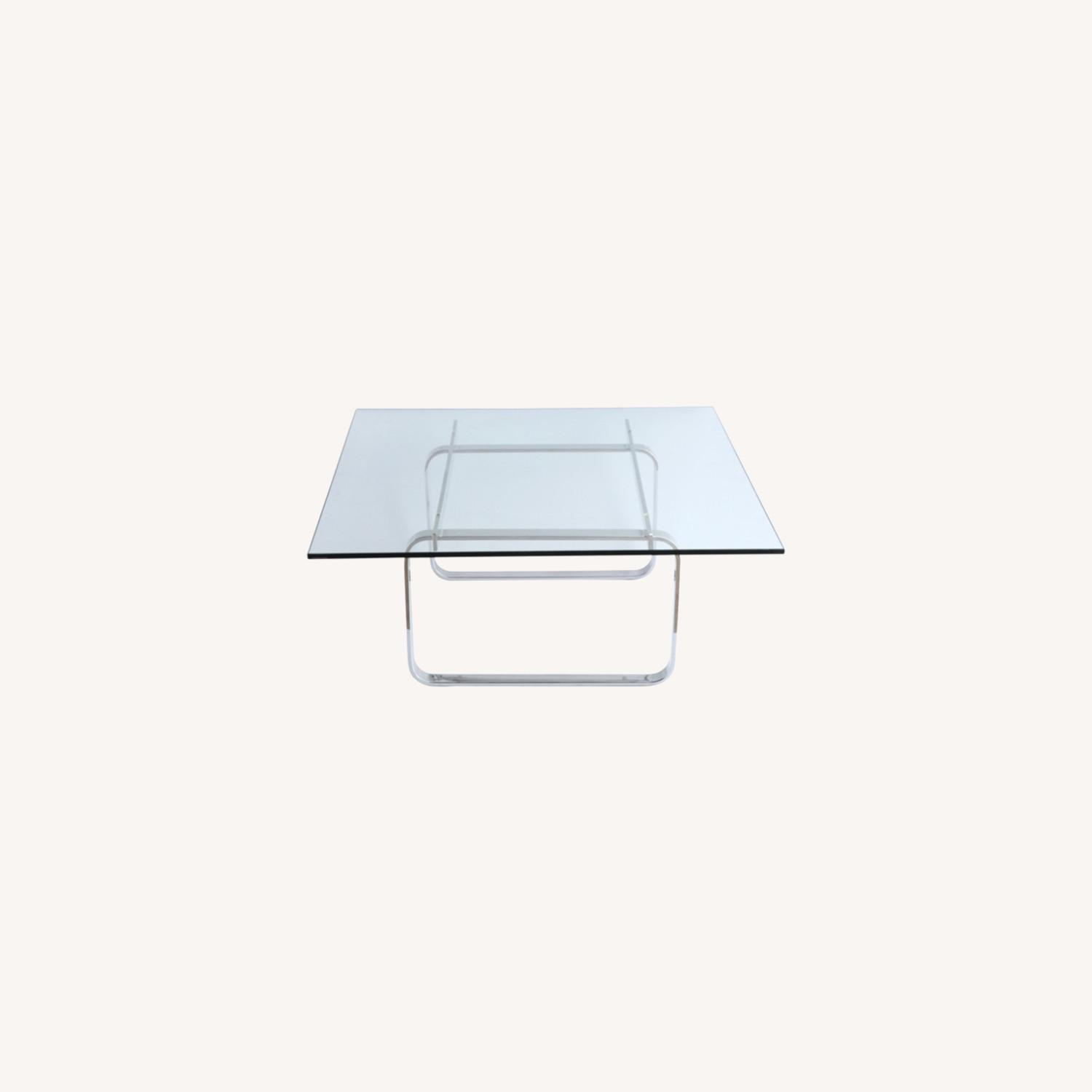 Coffee Table In Clear Stainless Steel - image-7