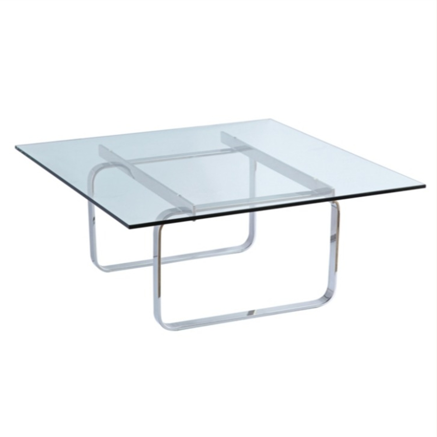 Coffee Table In Clear Stainless Steel - image-0