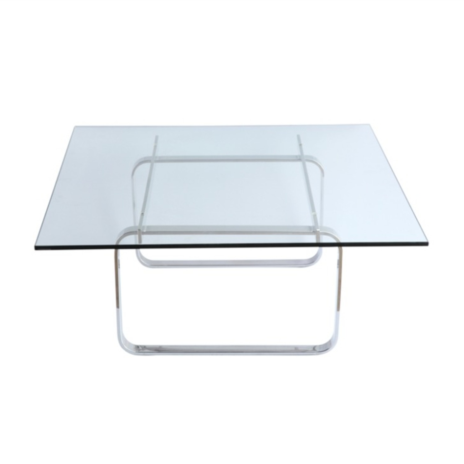 Coffee Table In Clear Stainless Steel - image-3