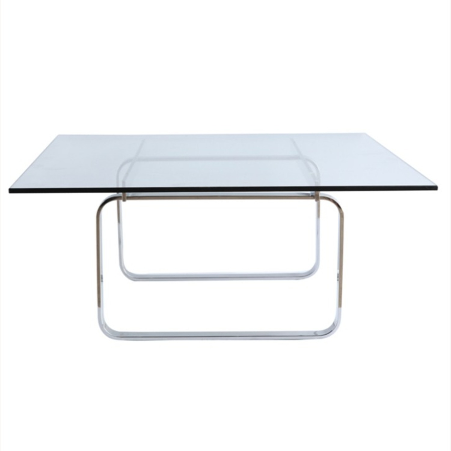 Coffee Table In Clear Stainless Steel - image-4