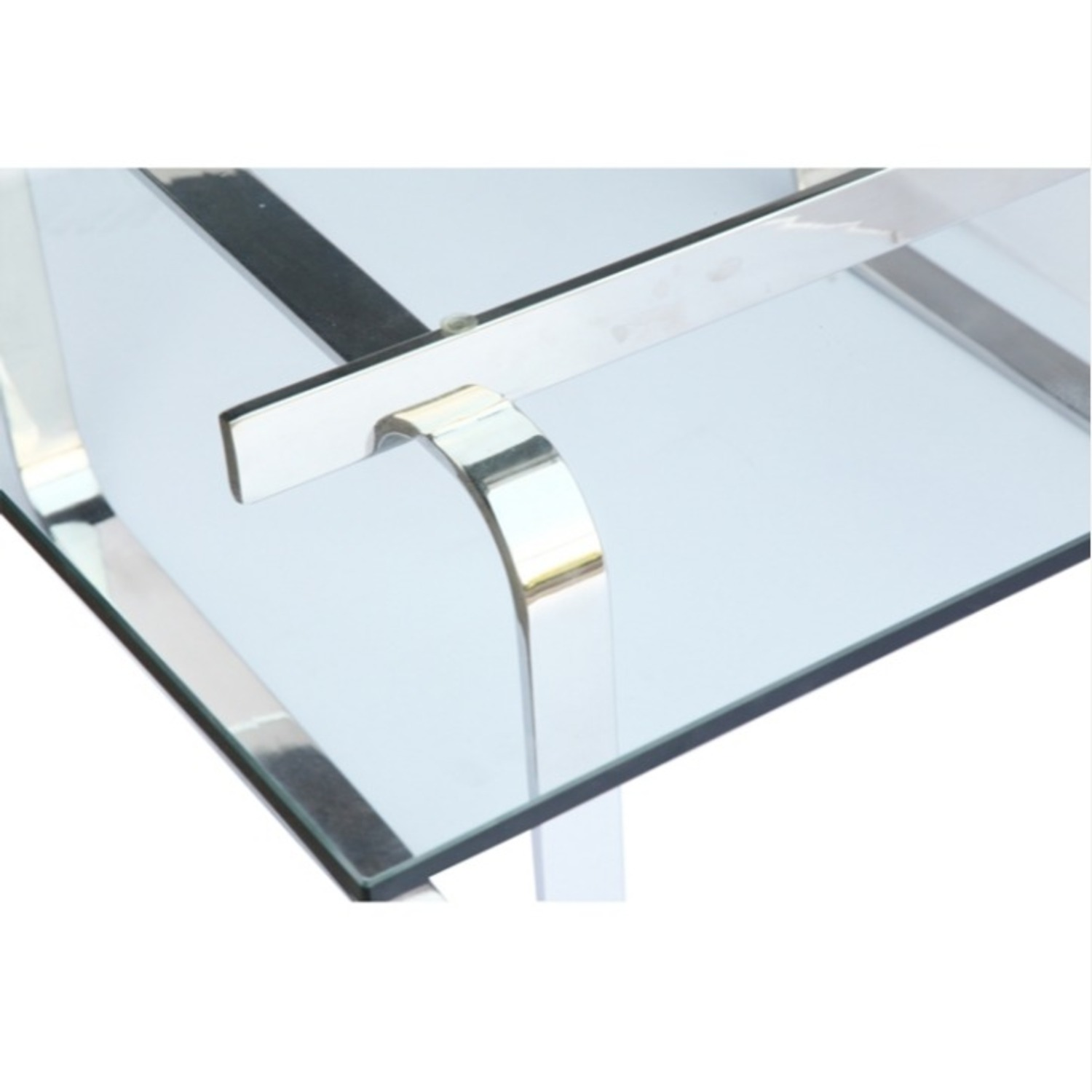 Coffee Table In Clear Stainless Steel - image-5