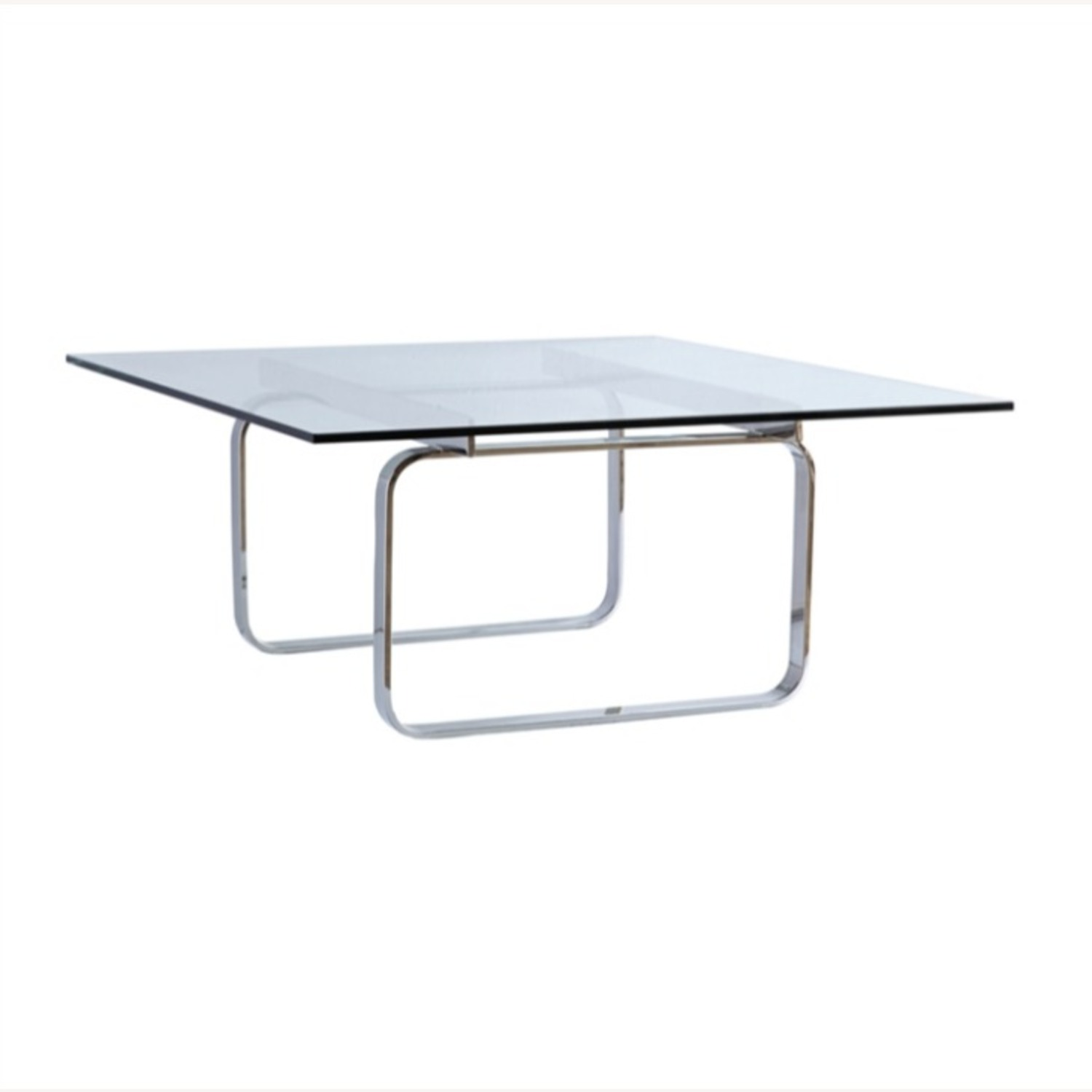 Coffee Table In Clear Stainless Steel - image-1