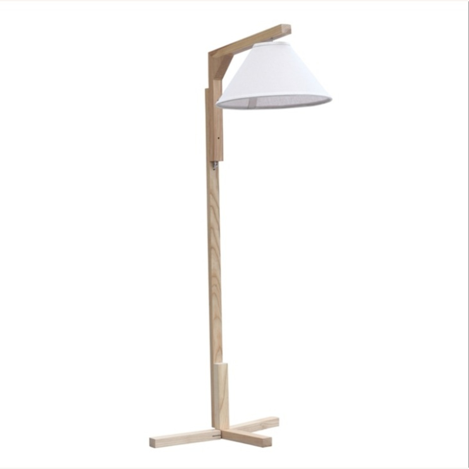 Spiral Floor Lamp In Natural Wood Finish - image-0