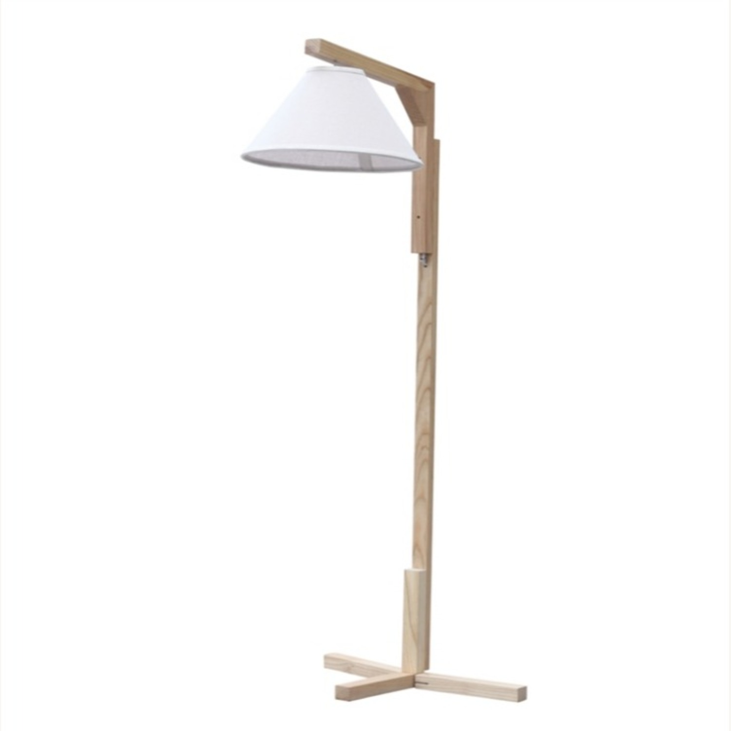 Spiral Floor Lamp In Natural Wood Finish - image-2