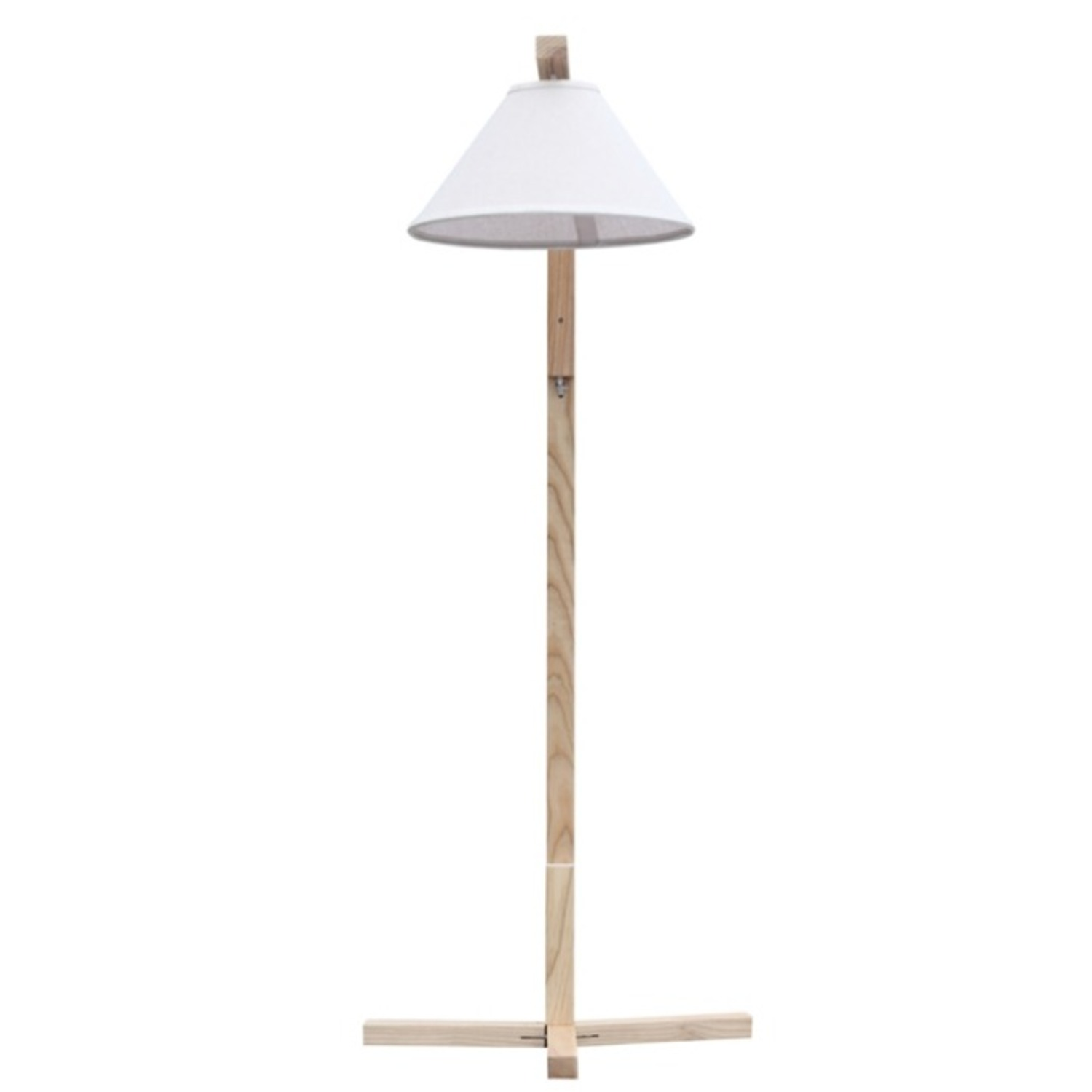 Spiral Floor Lamp In Natural Wood Finish - image-3