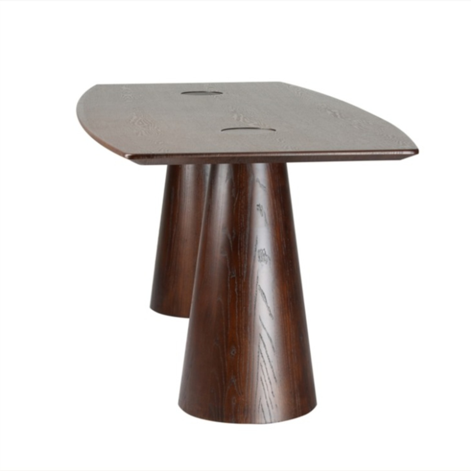 Dining Table Crafted In Mid Walnut Solid Wood - image-4