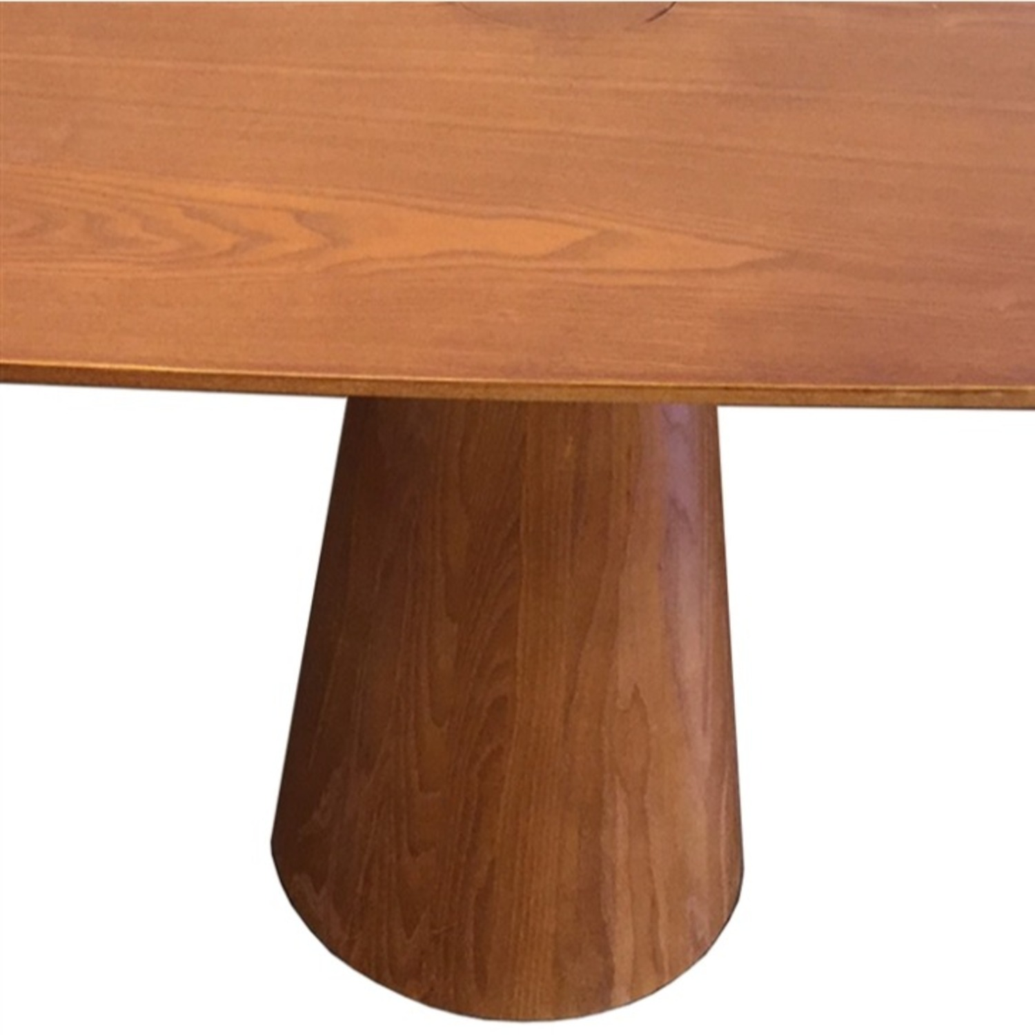 Dining Table Crafted In Mid Walnut Solid Wood - image-2