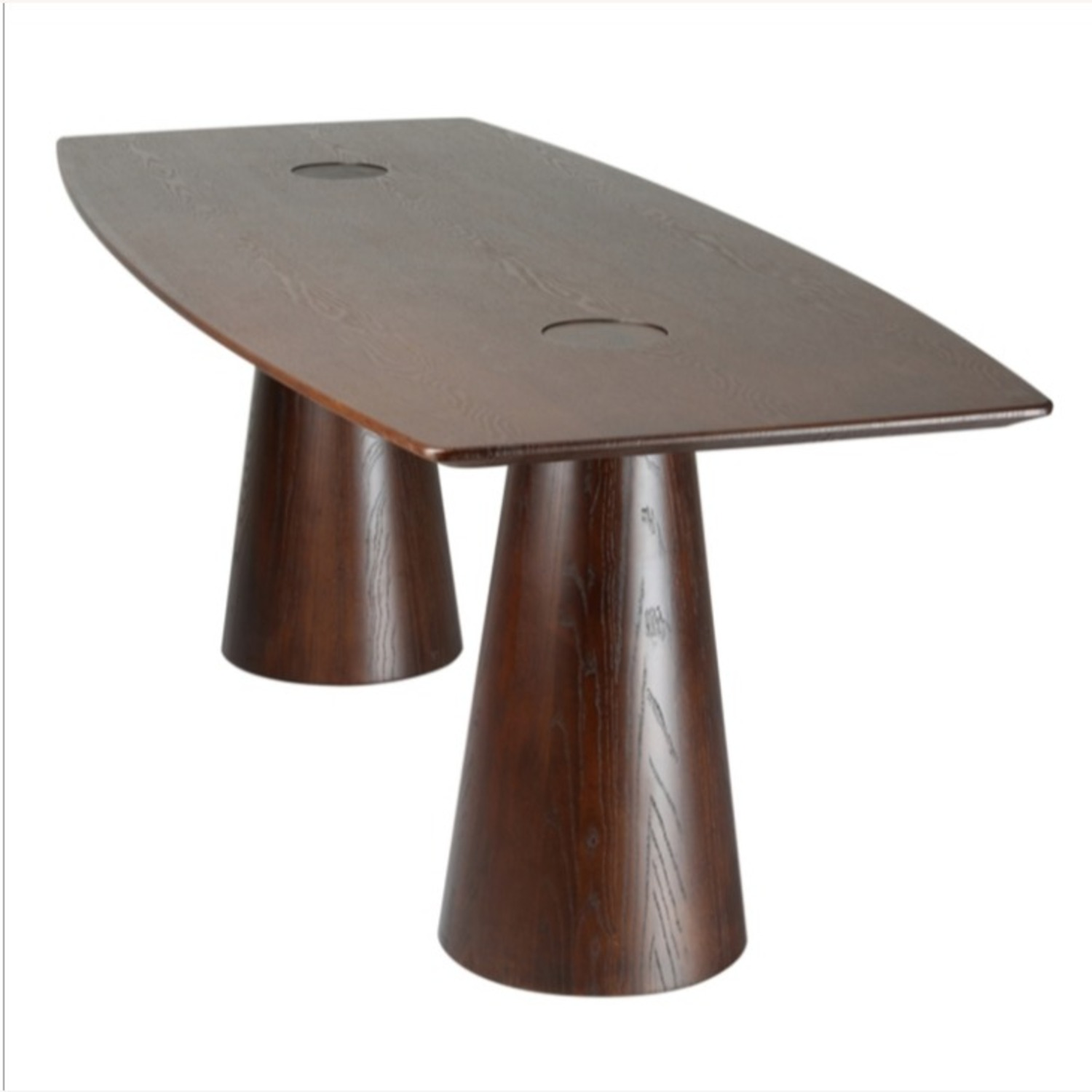Dining Table Crafted In Mid Walnut Solid Wood - image-5