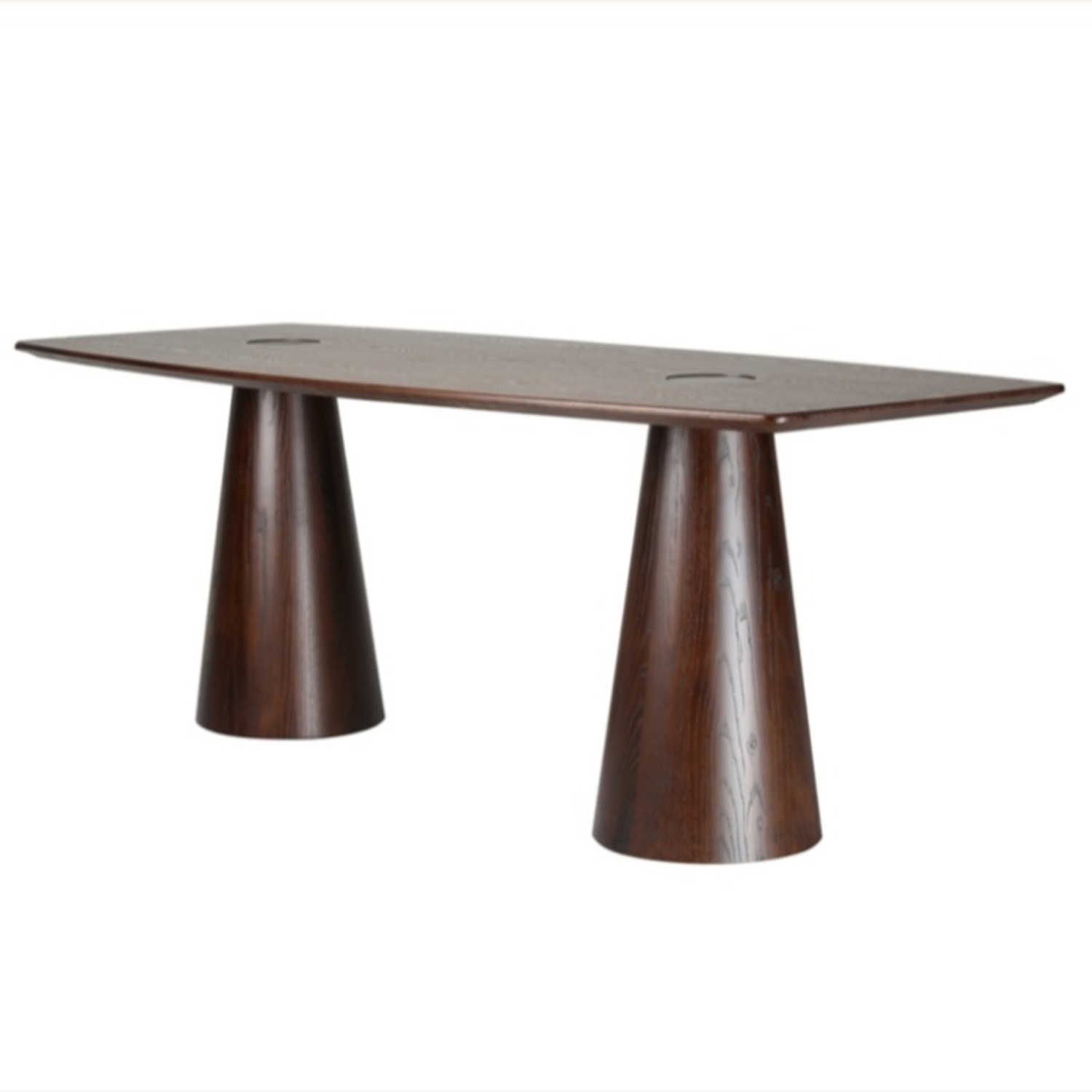 Dining Table Crafted In Mid Walnut Solid Wood - image-0