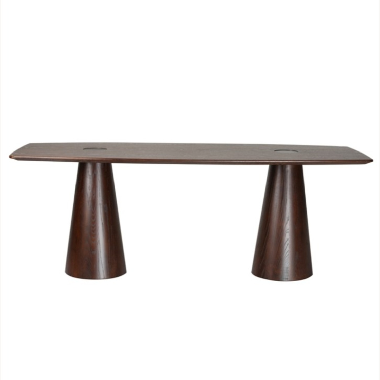 Dining Table Crafted In Mid Walnut Solid Wood - image-3