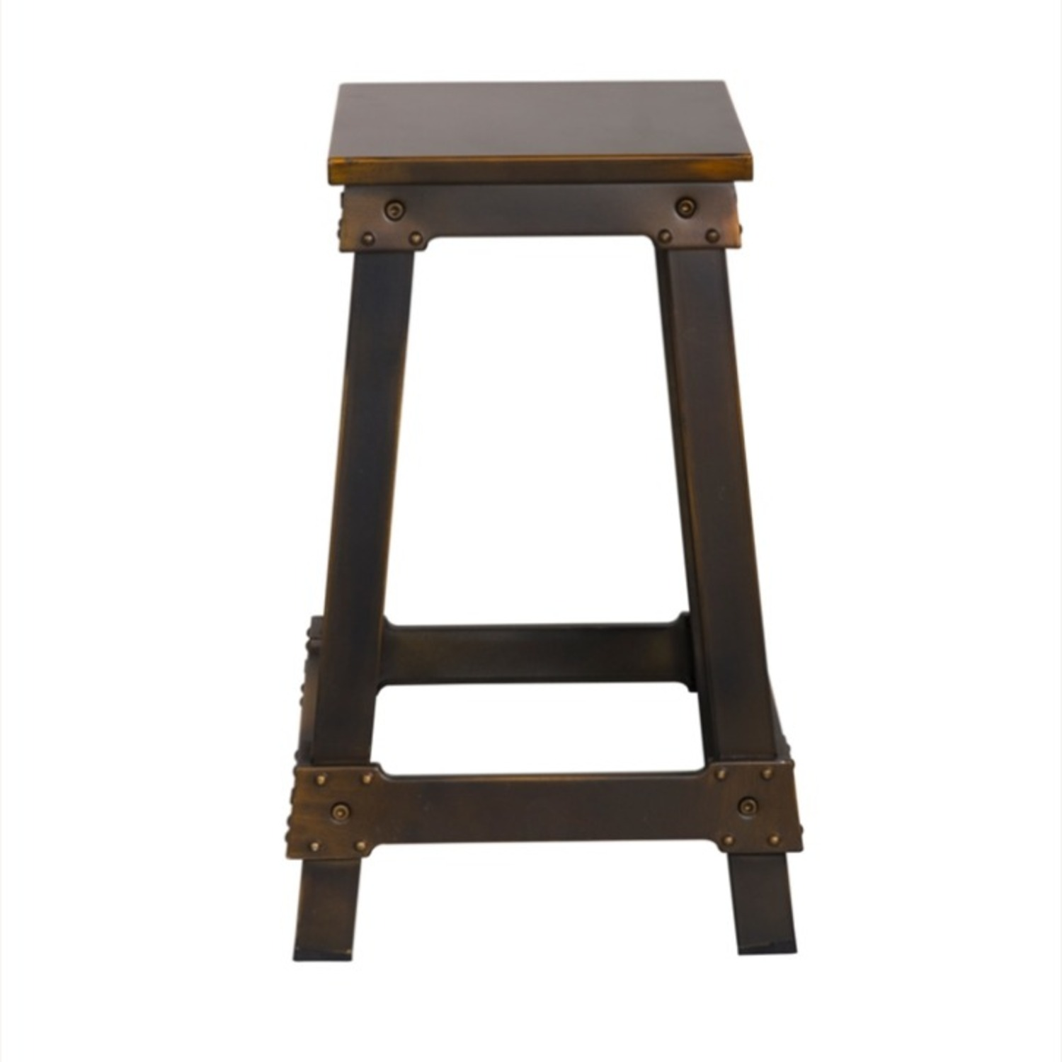 Counter Stool Constructed In Copper Metal  - image-1
