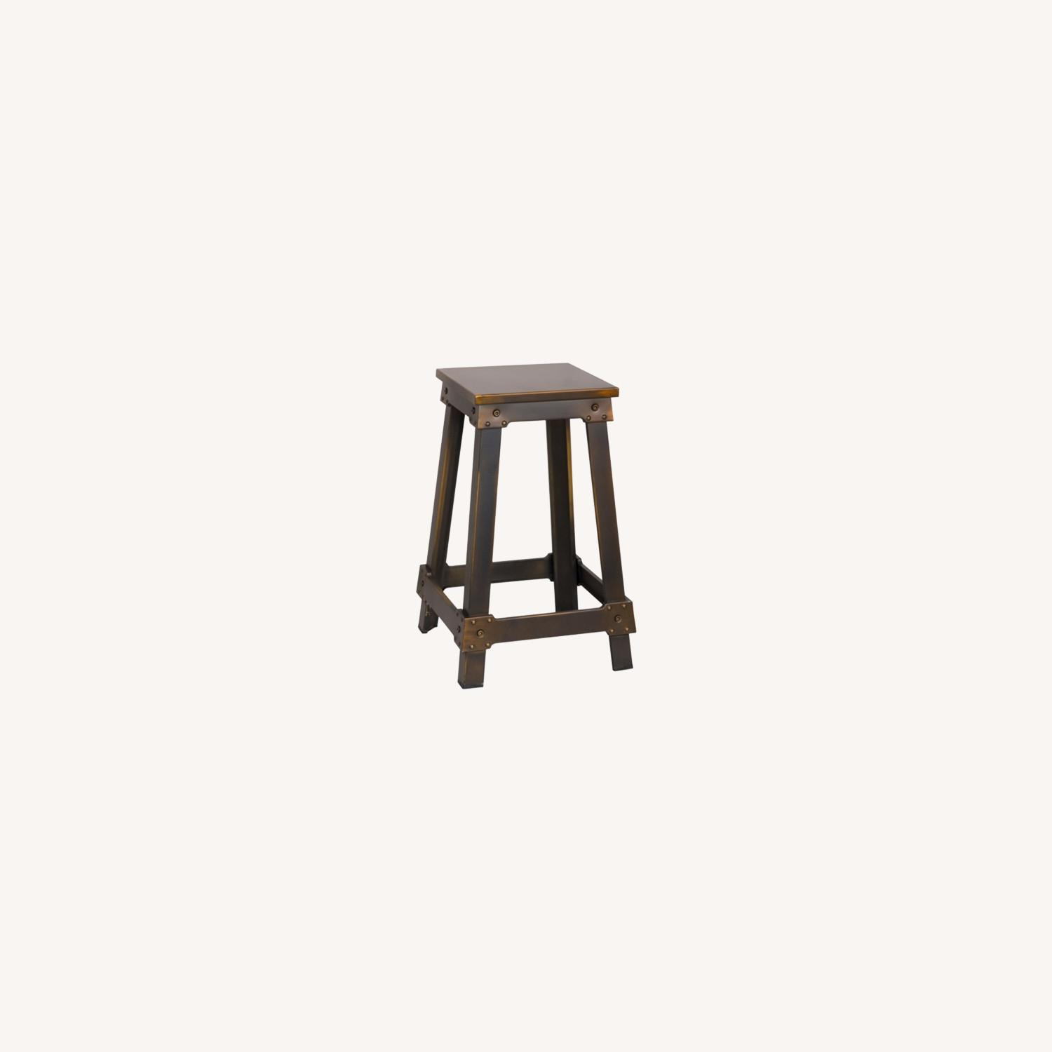 Counter Stool Constructed In Copper Metal  - image-3