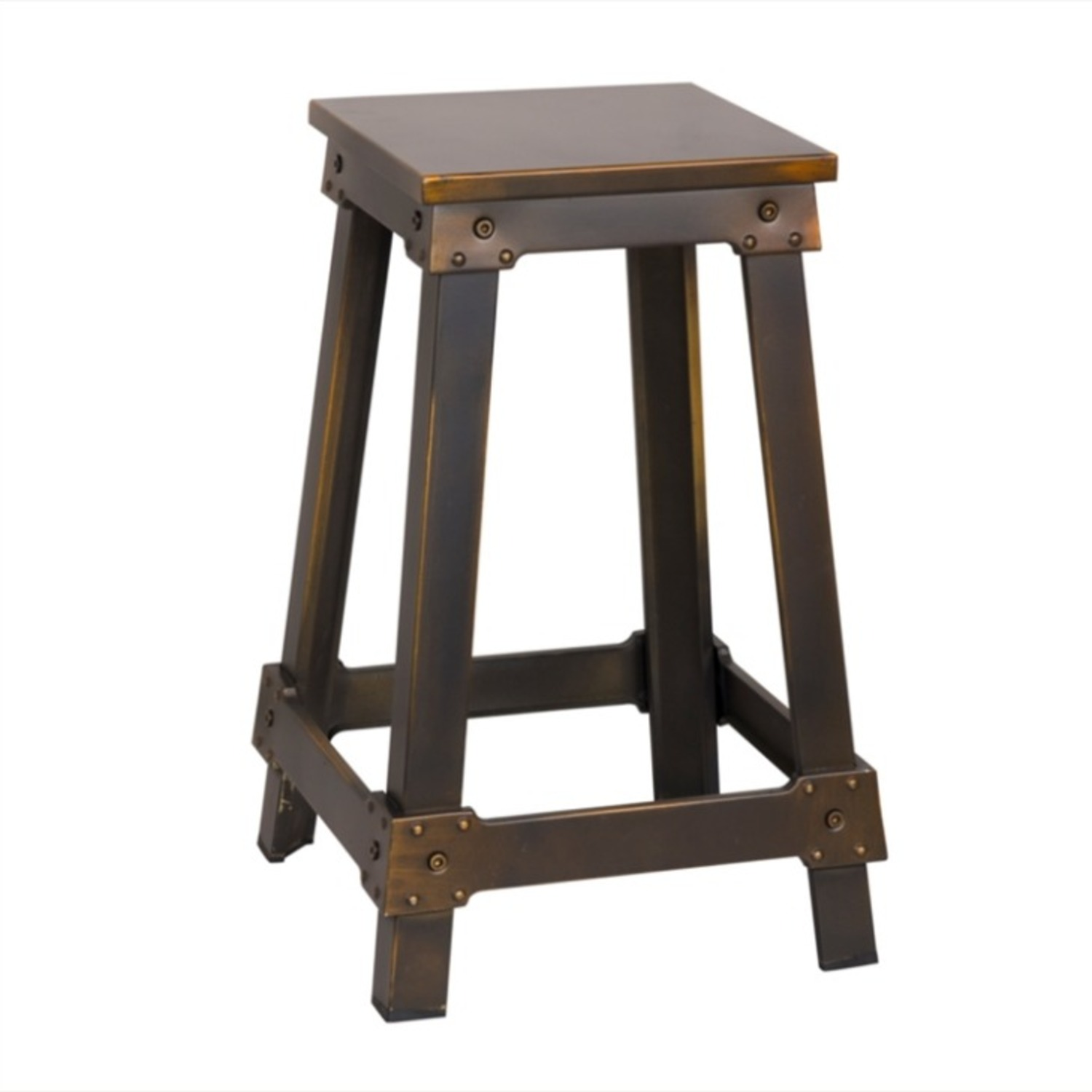 Counter Stool Constructed In Copper Metal  - image-0