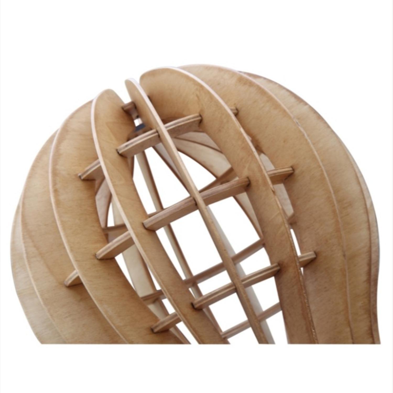 Table Lamp In Natural Wood Socket Design - image-1