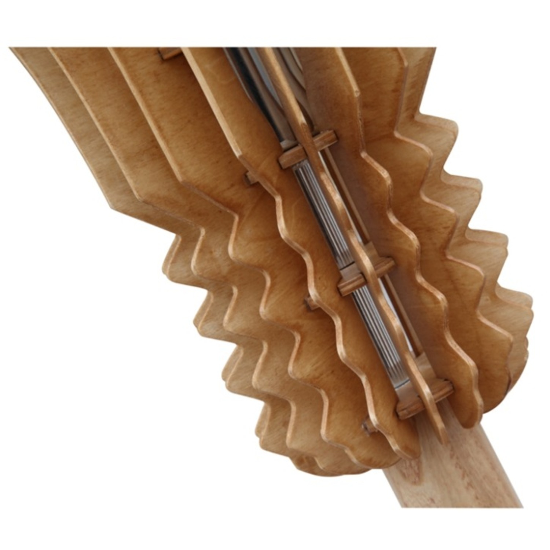 Table Lamp In Natural Wood Socket Design - image-3