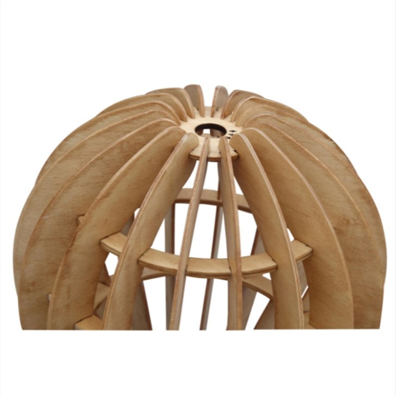 Table Lamp In Natural Wood Socket Design - image-2