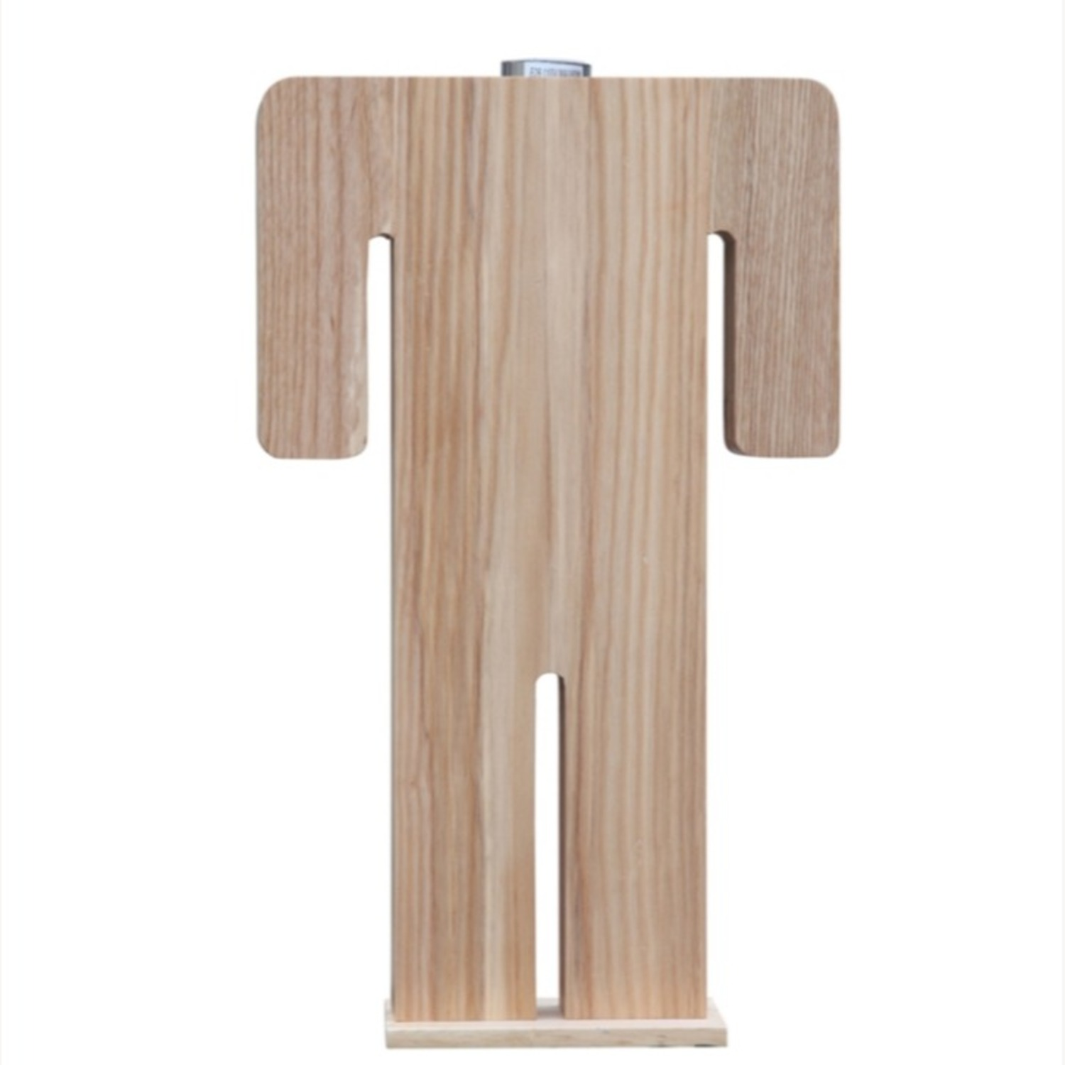 Table Lamp In Natural Wood W/ Male Person Design - image-3