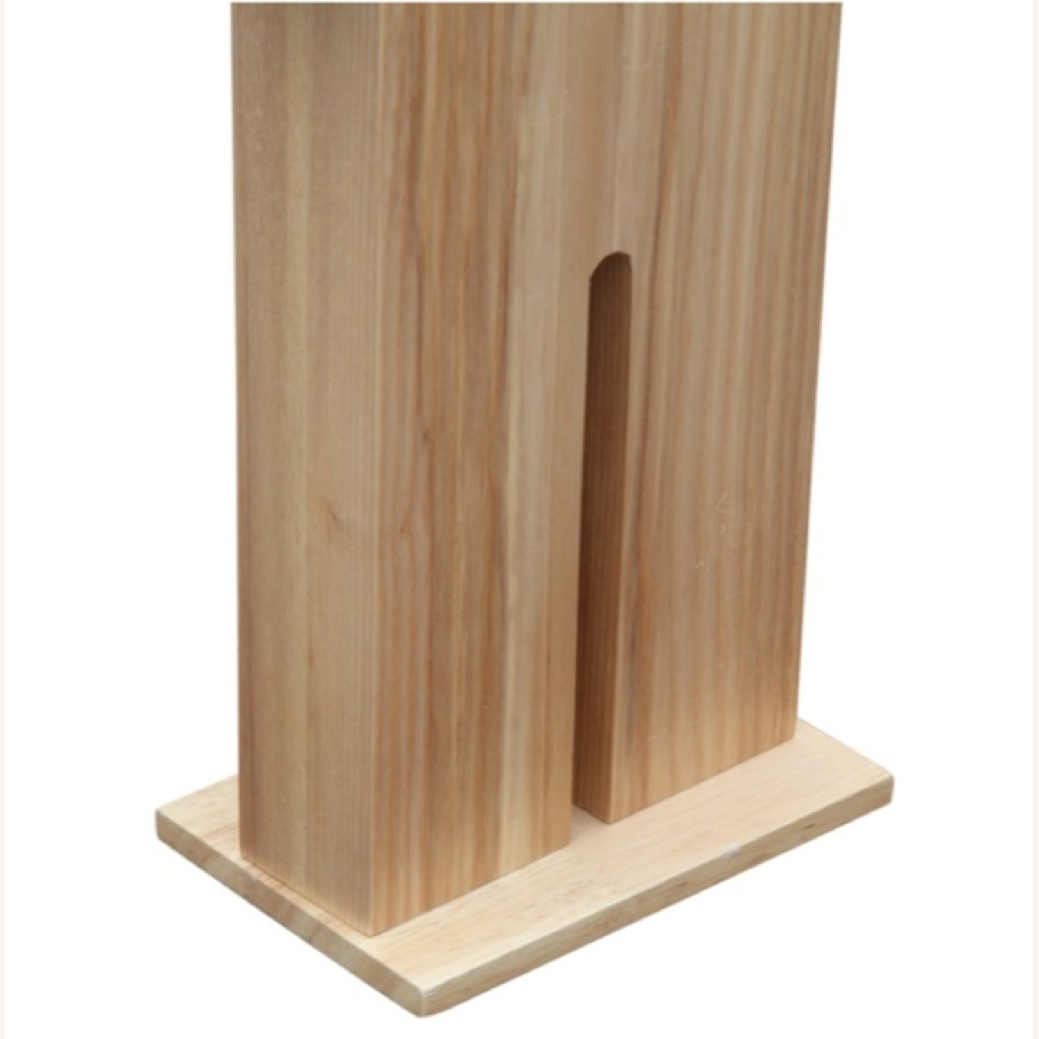 Table Lamp In Natural Wood W/ Male Person Design - image-4