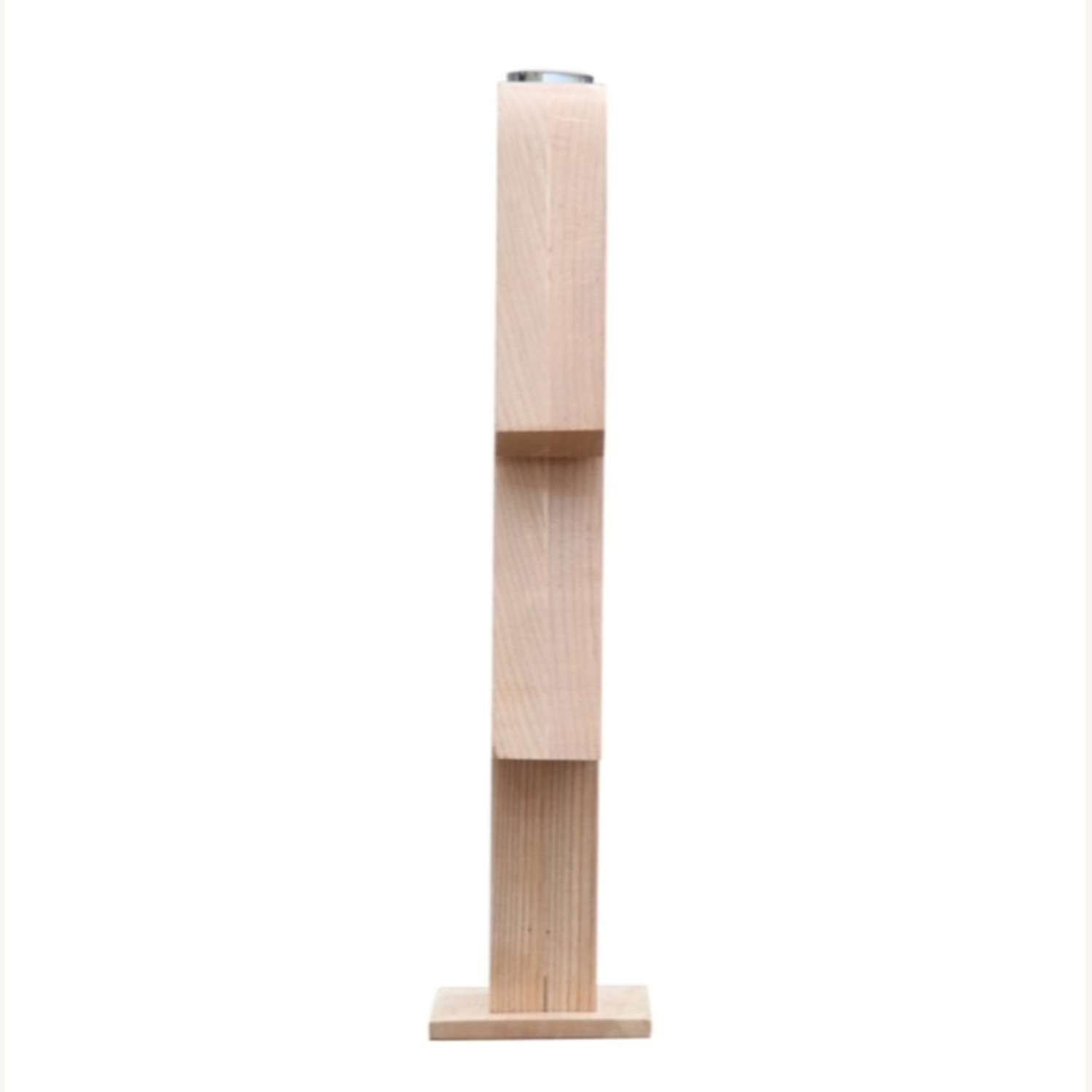 Table Lamp In Natural Wood W/ Female Person Design - image-6