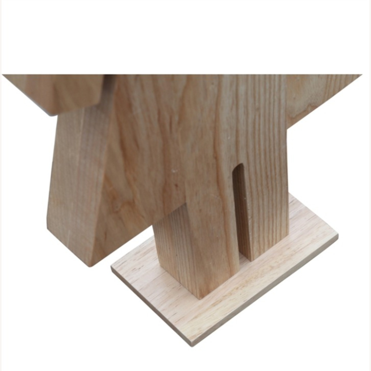 Table Lamp In Natural Wood W/ Female Person Design - image-5