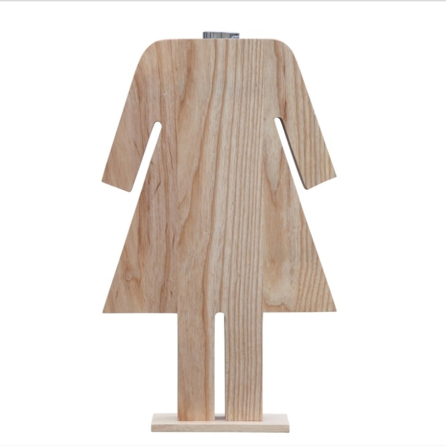 Table Lamp In Natural Wood W/ Female Person Design - image-3