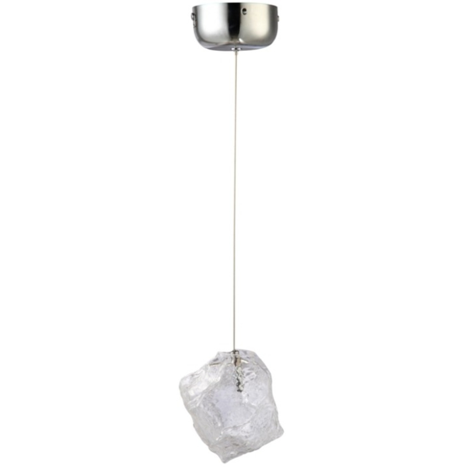 Lamp In Clear Glass Ice Pendant Design - image-1