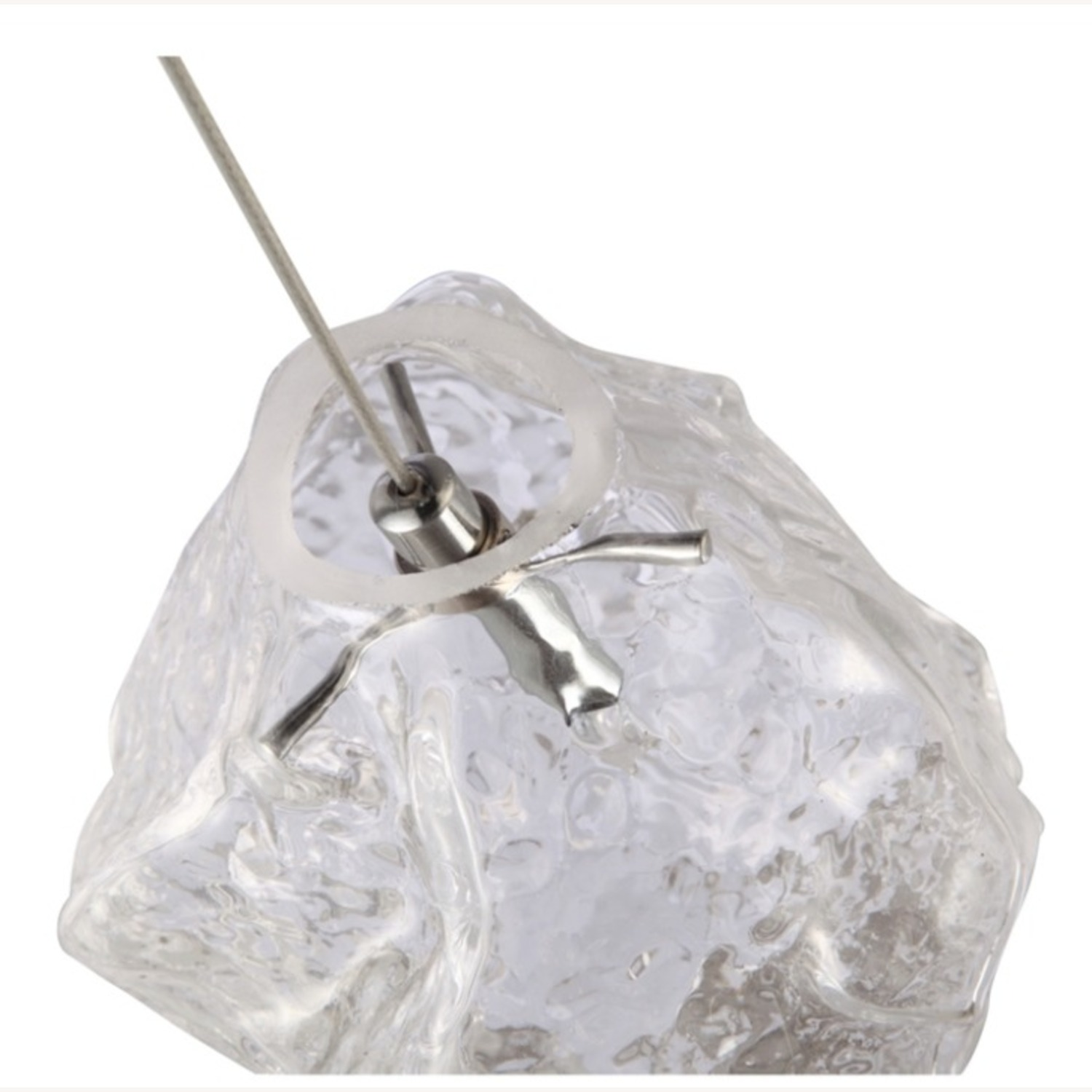 Lamp In Clear Glass Ice Pendant Design - image-3