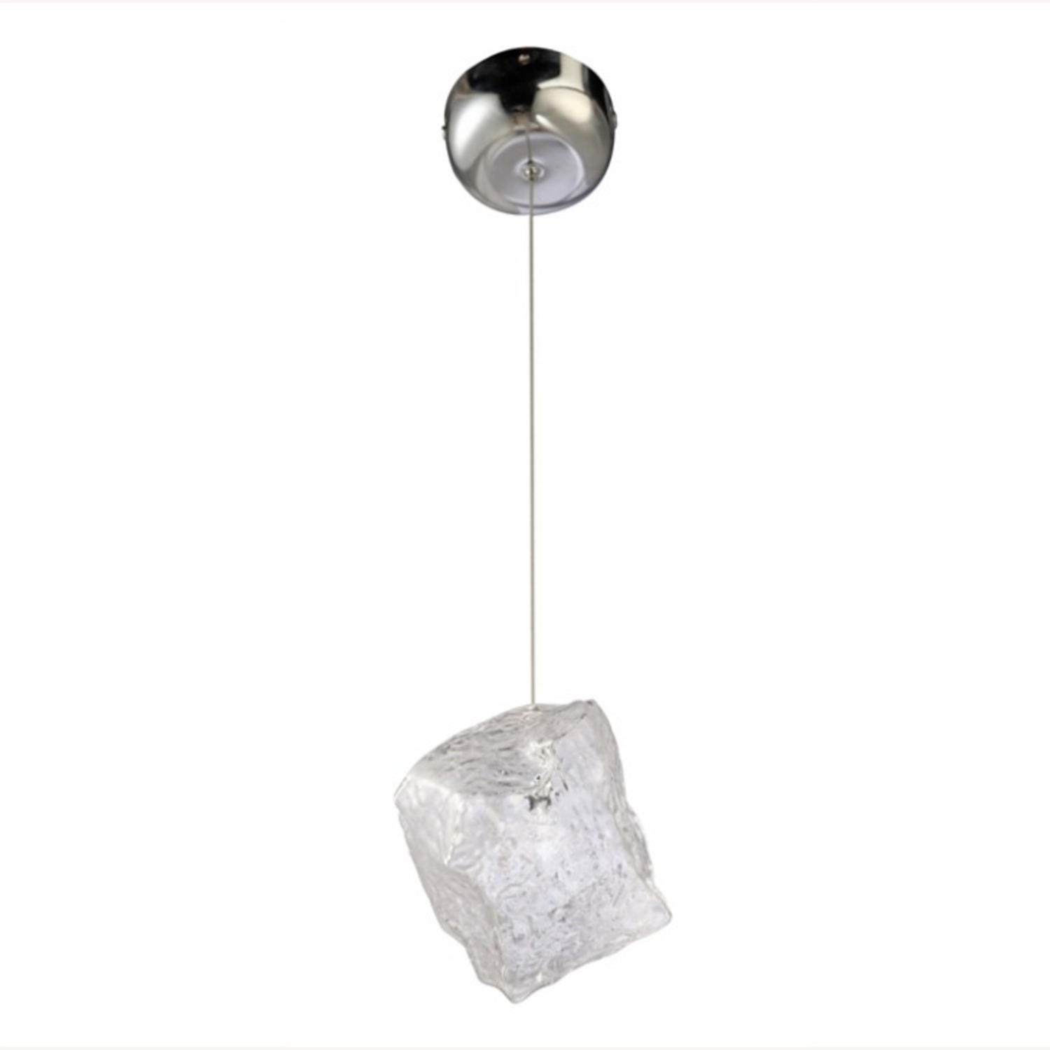 Lamp In Clear Glass Ice Pendant Design - image-0