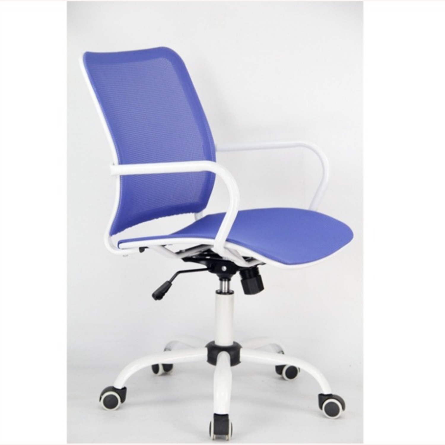 Office Chair In Blue Back & Seat Mesh Finish - image-1