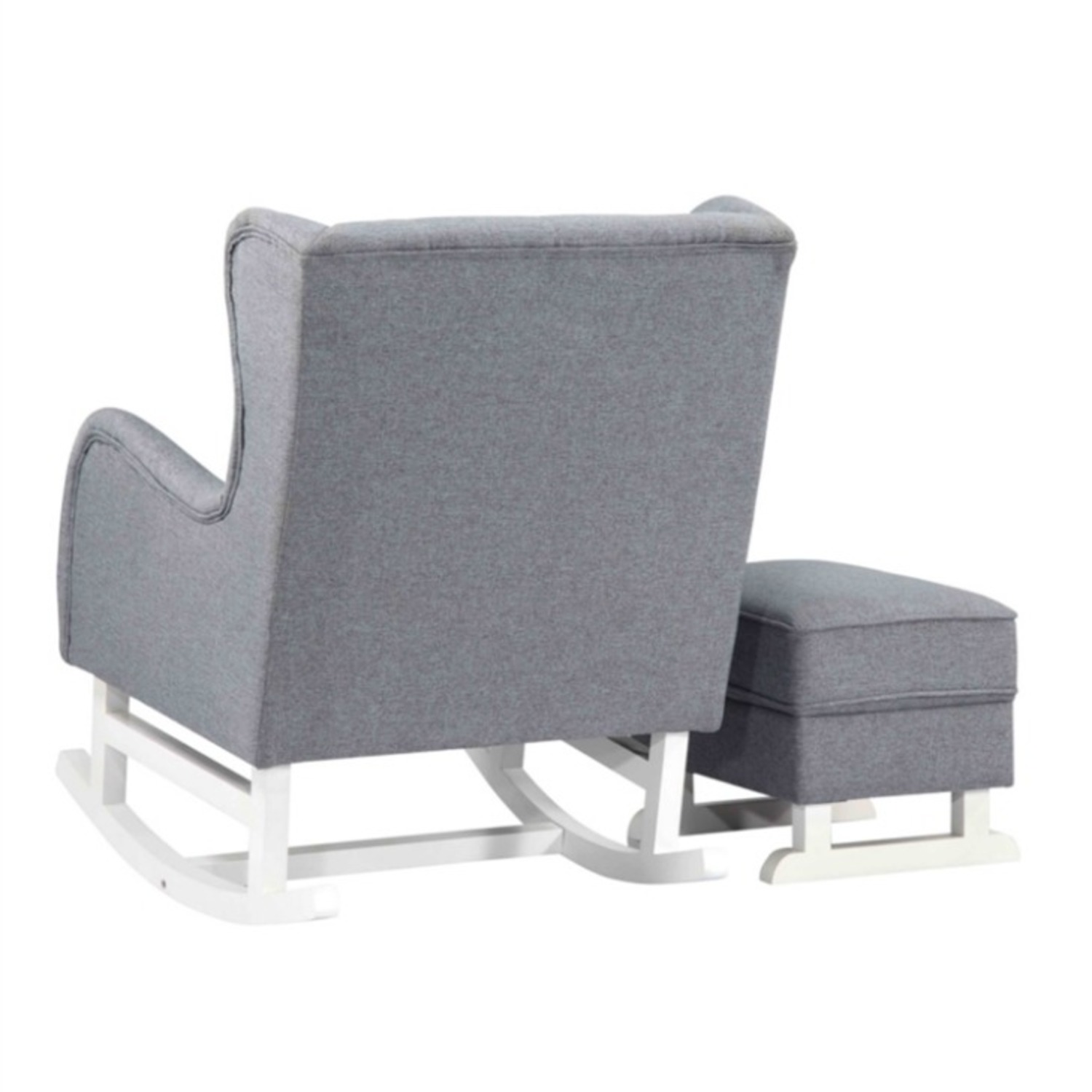 Baby Lounge Chair & Ottoman In Gray Fabric - image-3