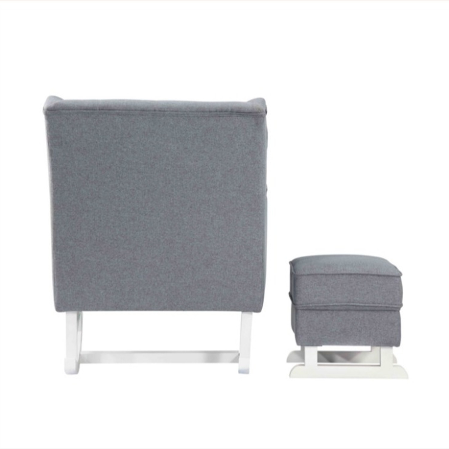 Baby Lounge Chair & Ottoman In Gray Fabric - image-2