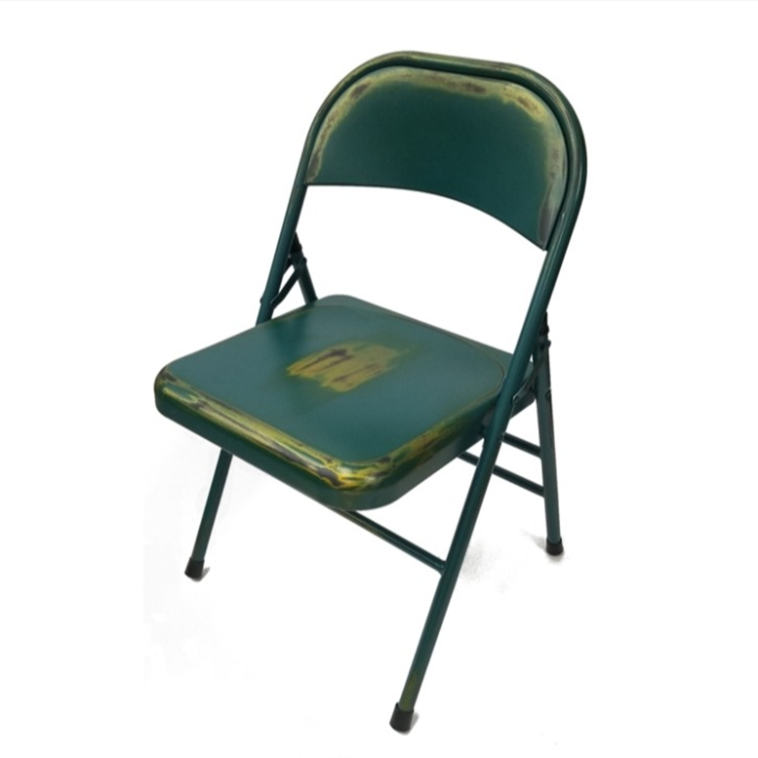 Folding Chair In Turquoise Powder Coated Finish - image-4