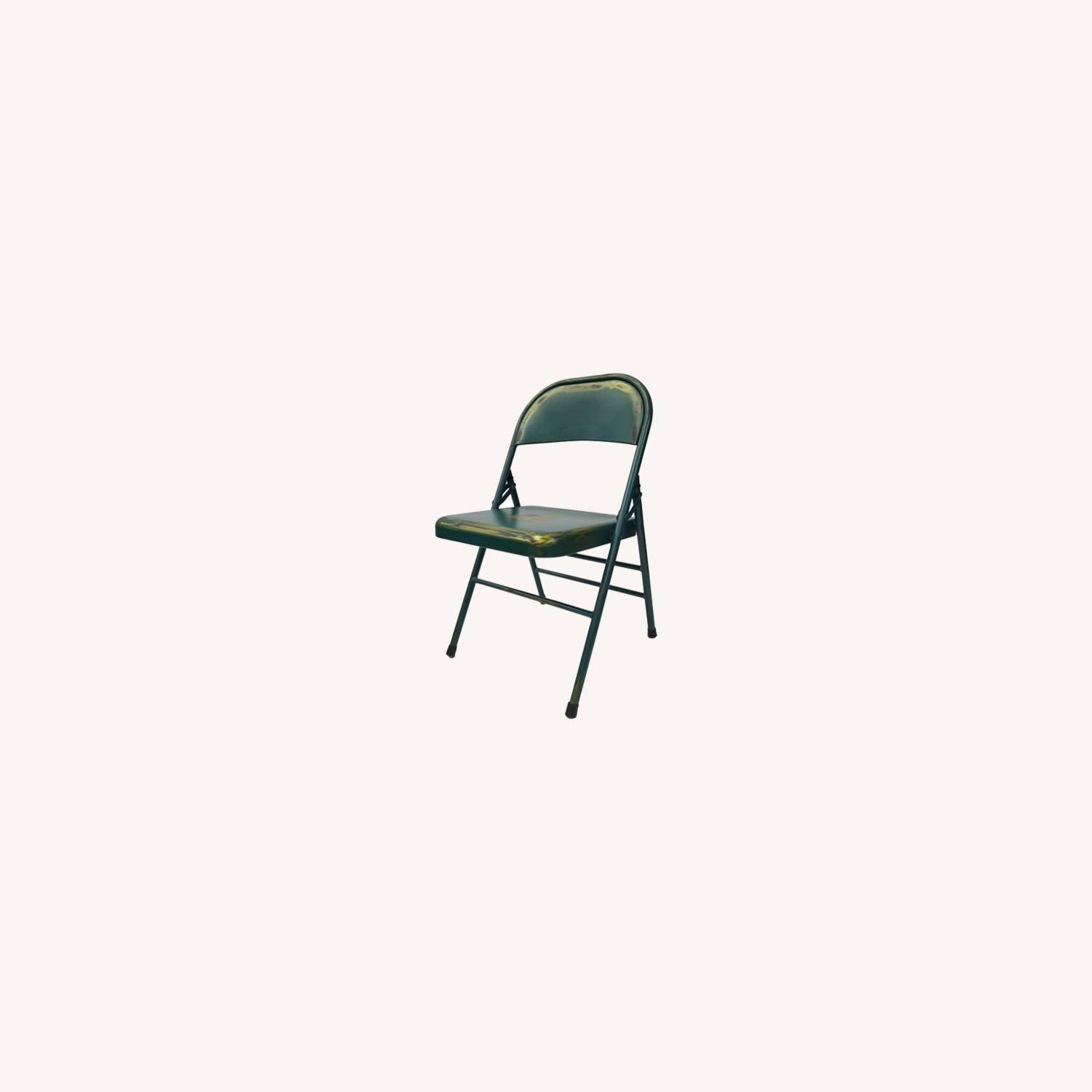 Folding Chair In Turquoise Powder Coated Finish - image-6