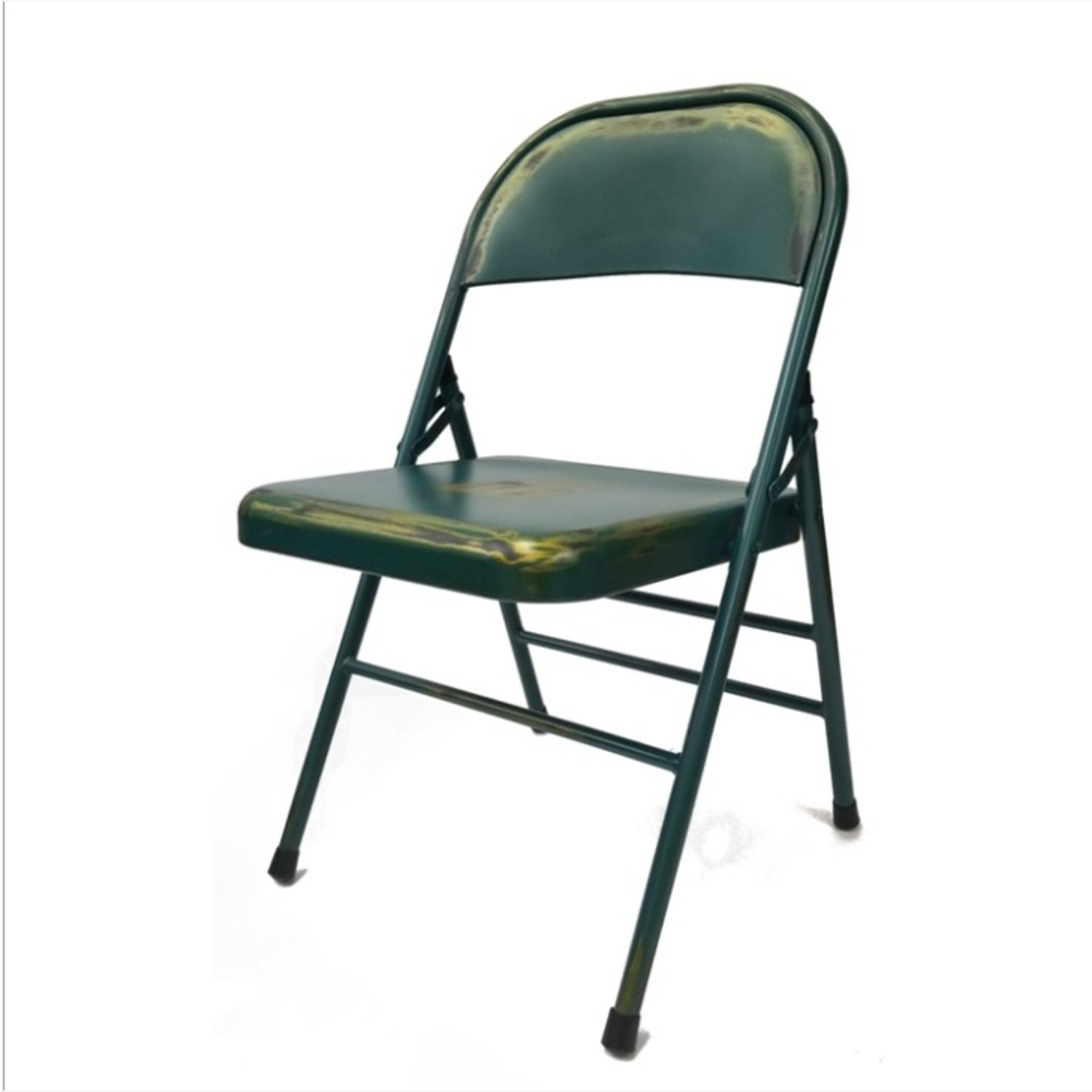 Folding Chair In Turquoise Powder Coated Finish - image-0