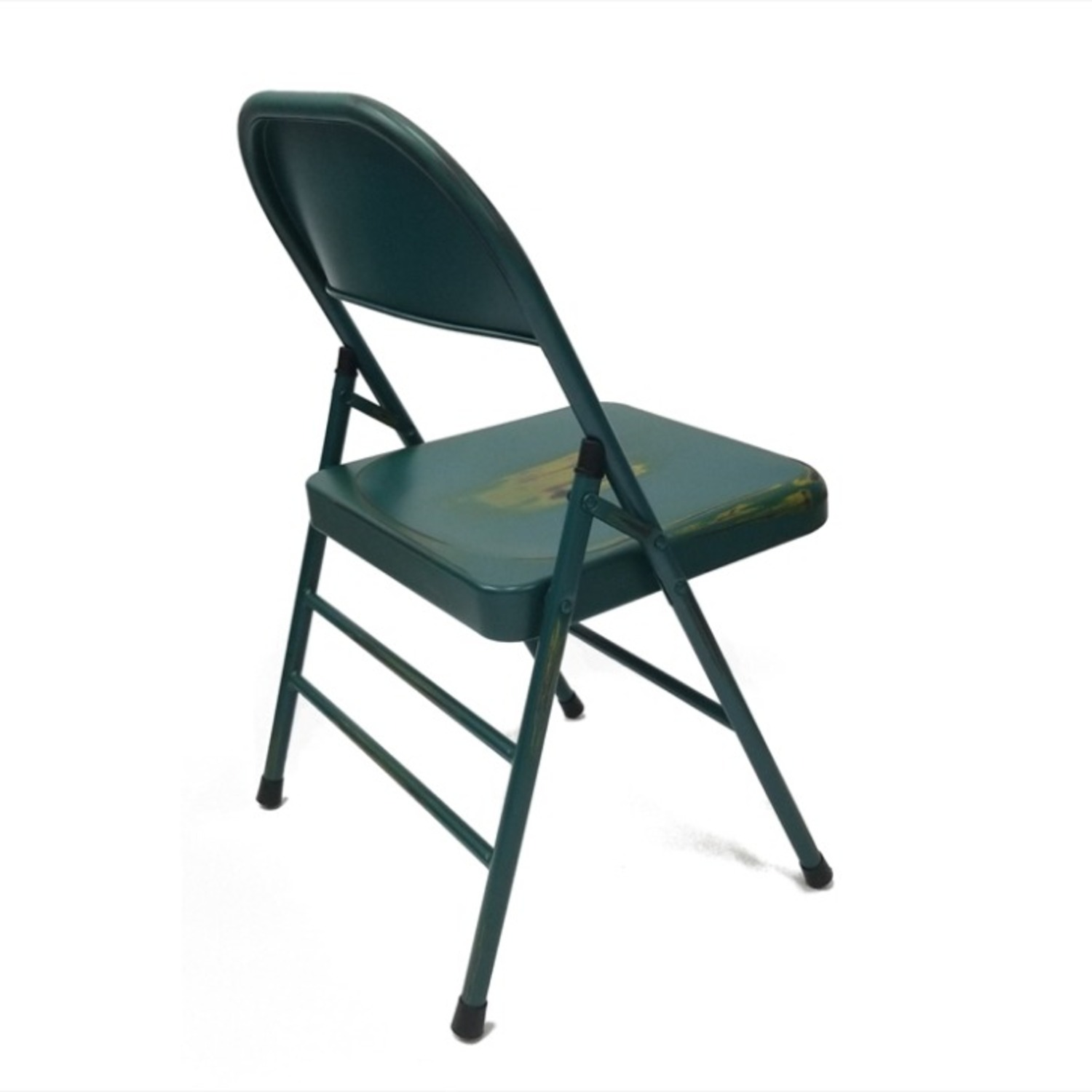 Folding Chair In Turquoise Powder Coated Finish - image-1